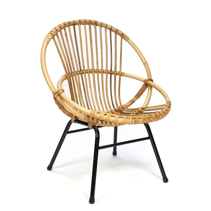 Vintage Rotan stoel klein model