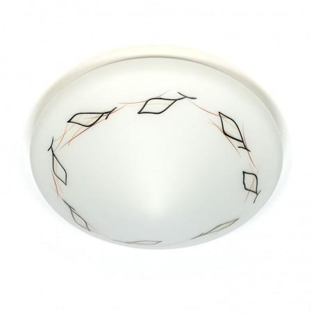 Glazen vintage jaren vijftig plafondlamp