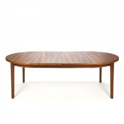 Extendable large teak Danish vintage dining table
