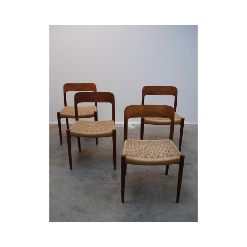 Vintage set Niels O. Møller chairs