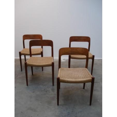 Vintage set Niels O. Møller chairs