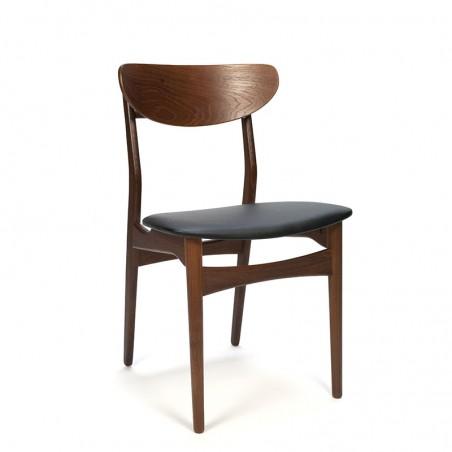 Eettafel stoel Deens vintage model