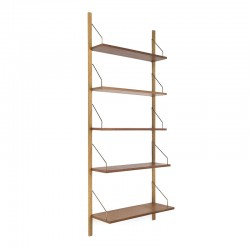 Danish vintage wall system or book shelves in teak