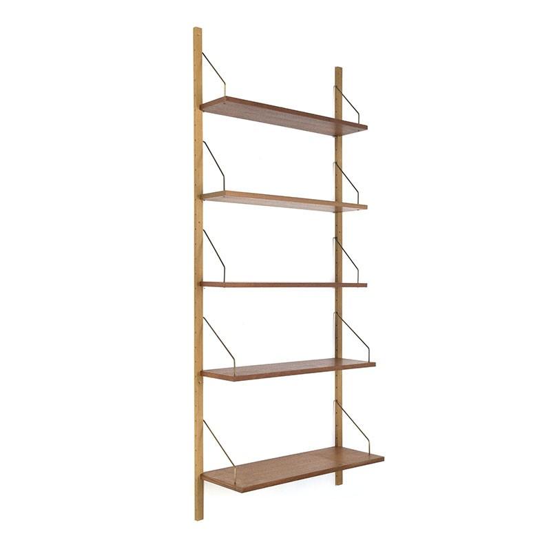 Danish vintage wall system or book shelves in teak