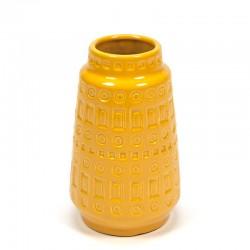 Yellow vintage West Germany vase
