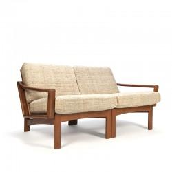 Vintage Deense 2-zits bank uit de Glostrup meubelfabriek
