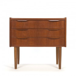 Small vintage model teak chest of drawers with 3 drawers