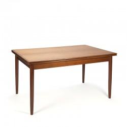 Extendable vintage teak Danish dining table