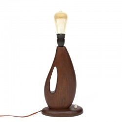 Organically designed vintage table lamp