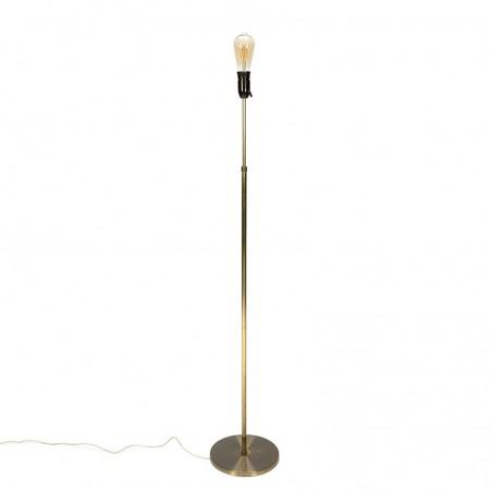 Messing vintage minimalistische vloerlamp
