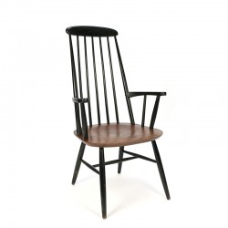 Vintage bar chair with high back and armrest