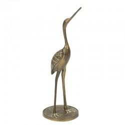 Vintage sculptuur van een kraanvogel