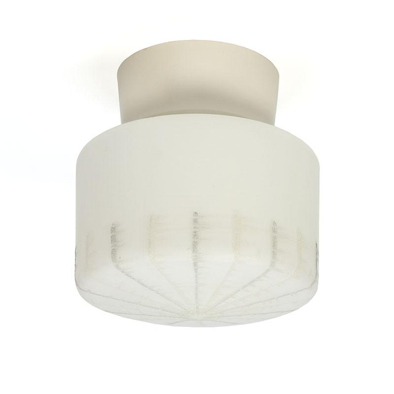 Vijftiger jaren glazen vintage plafondlamp