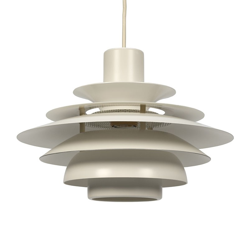 Deense hanglamp wit metaal