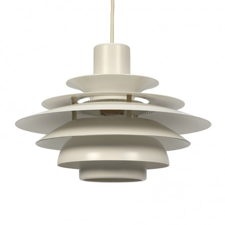 Danish hanging lamp white metal