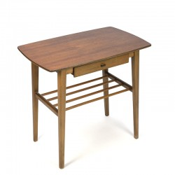 Vintage Danish side table with small drawer