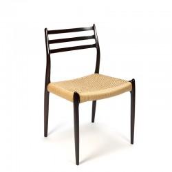Vintage design chair Møller model 78