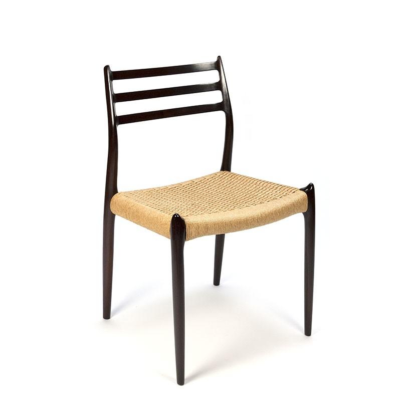 Vintage design stoel Møller model 78