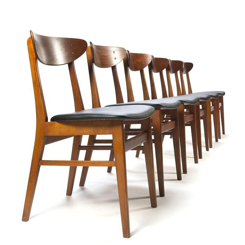 Deense vintage Farstrup stoelen model 210 set van 6