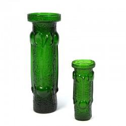 Set van 2 vintage groene Italiaanse vazen