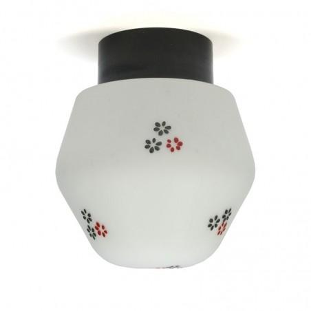 Glazen vijftiger jaren vintage plafondlamp