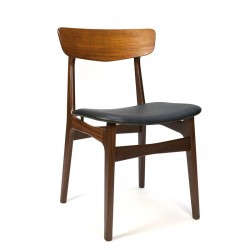 Luxury teak vintage Danish dining table chair