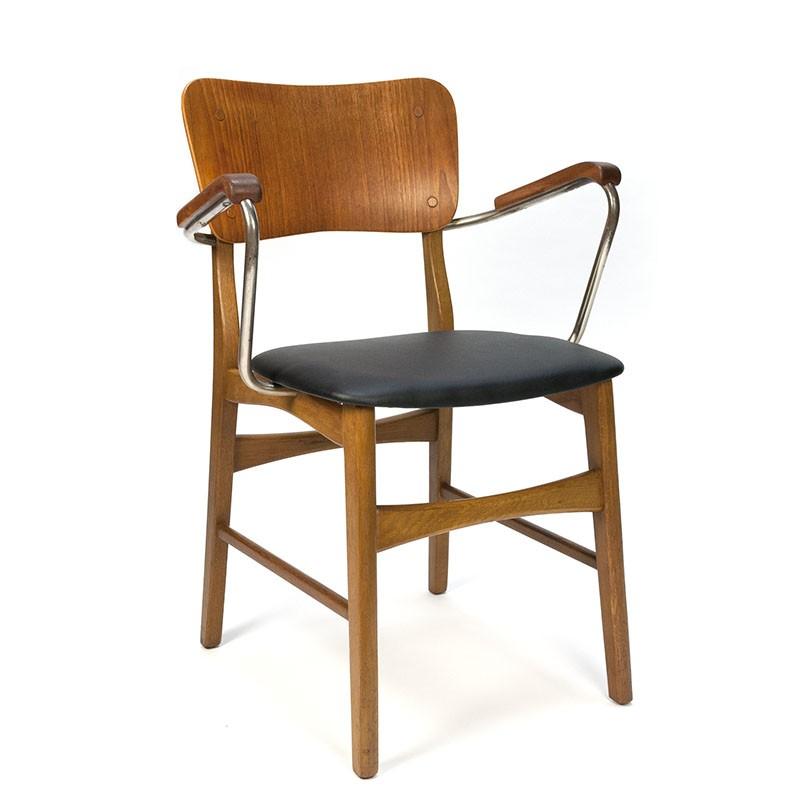 Bureaustoel met armleuning Deens vintage design