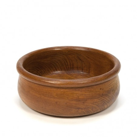 Round vintage bowl in teak from the 1960's
