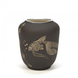Small model vintage vase with fish