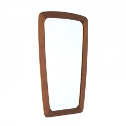 Small model teak vintage Danish mirror