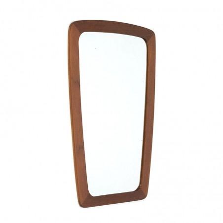 Klein model teakhouten vintage Deense spiegel