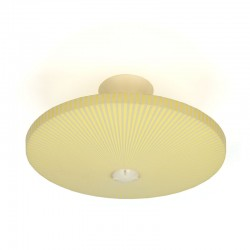 Yellow plastic vintage Philips ceiling lamp