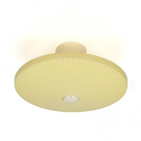 Gele plastic vintage Philips plafondlamp