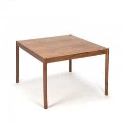Teakhouten vintage Deense vierkante salontafel