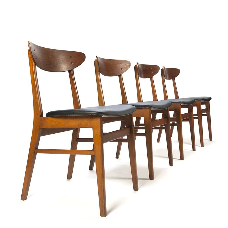 Danish set of 4 Farstrup model 210 vintage chairs