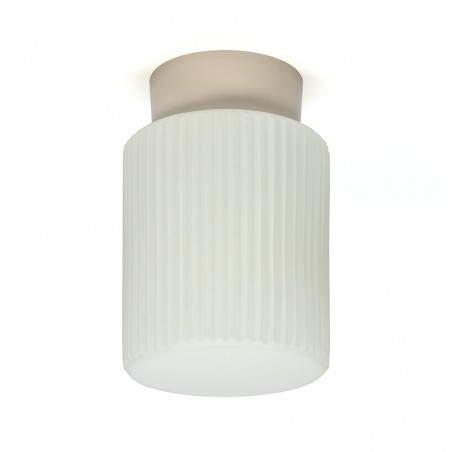 White sixties vintage ceiling lamp