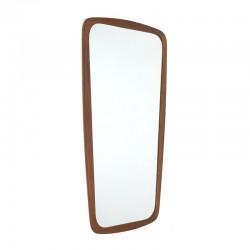 Vintage spiegel met Deense teakhouten rand