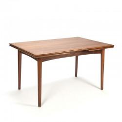 Extendable Danish teak vintage dining table