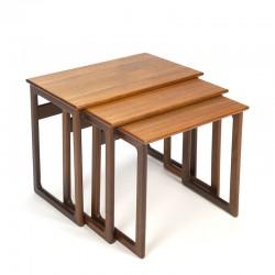 Set of Danish vintage nesting tables in teak