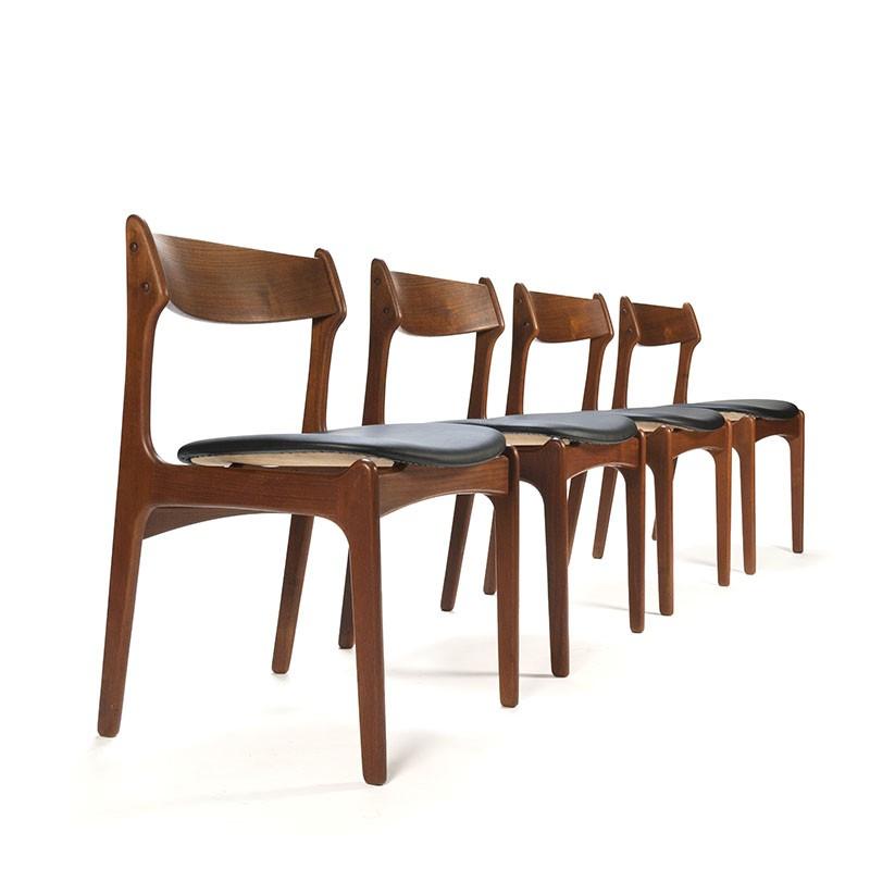 Vintage Design Eetkamerstoelen.Set Vintage Design Stoelen Ontwerp Erik Buck Retro Studio