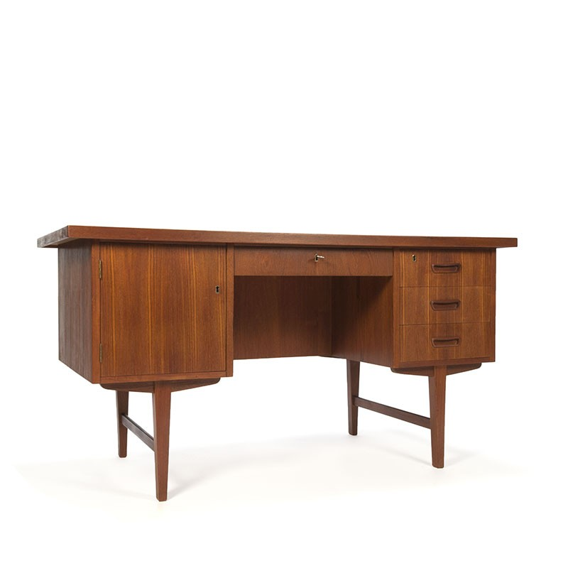 Bureau Retro Design.Bureau In Teakhout Vintage Deens Design Retro Studio