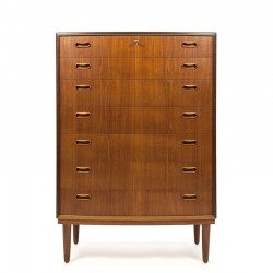 Vintage chest of drawers with 7 drawers Danish model