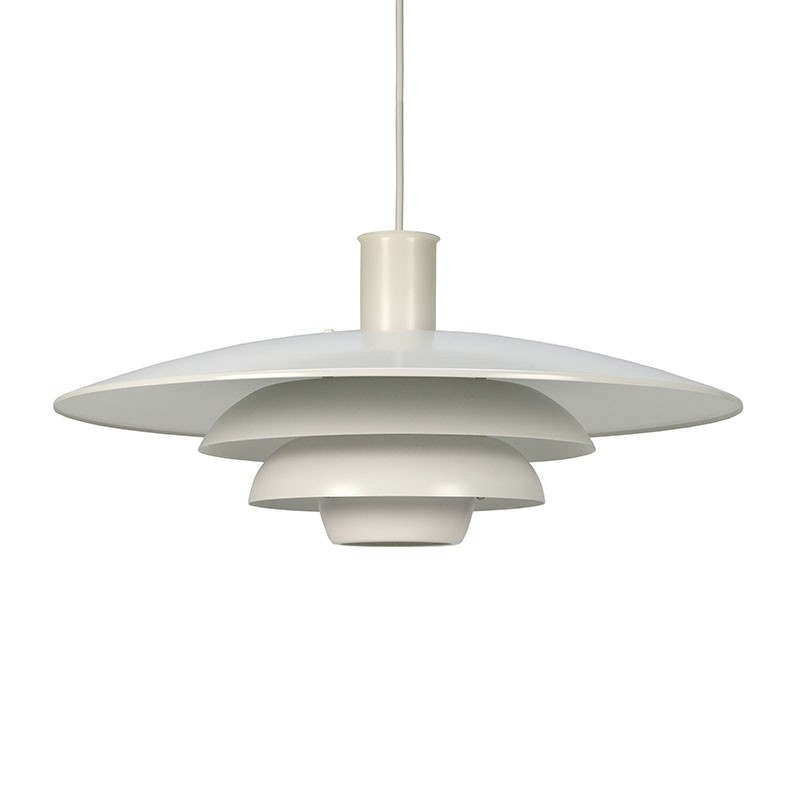 Witte vintage Deense hanglamp