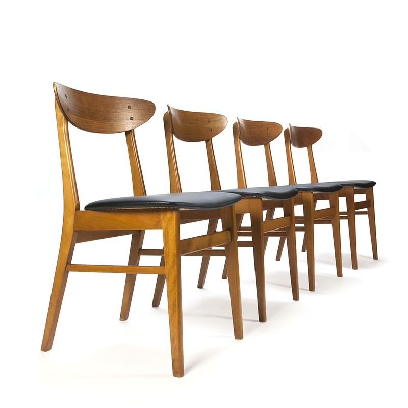 Farstrup model 210 set van 4 vintage stoelen