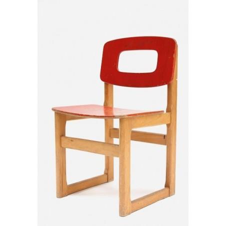 Rood Hukit kinder schoolstoeltje