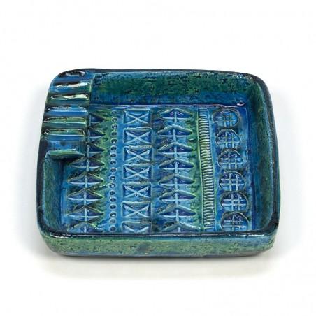 Vintage Bitossi Rimini blue ashtray design Aldo Londi