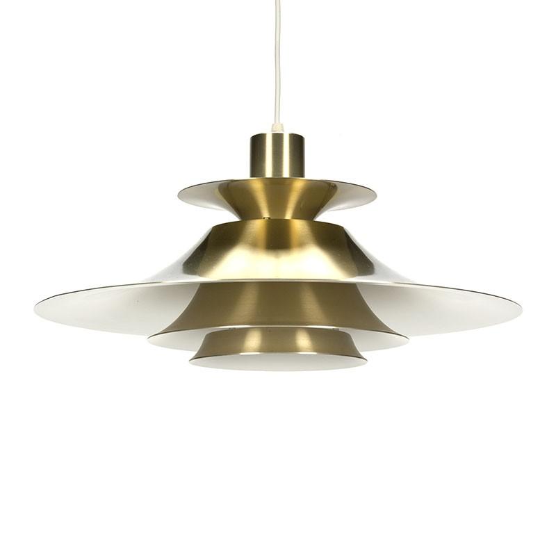 Vintage messing Deense hanglamp
