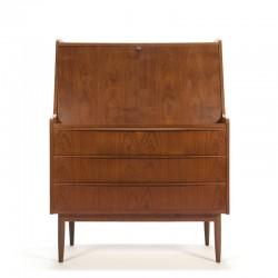 Vintage luxury Danish secretary with large worktop