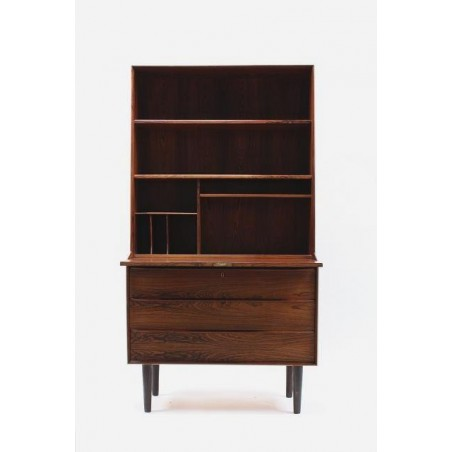 Secretaire/ bookcase in rosewood
