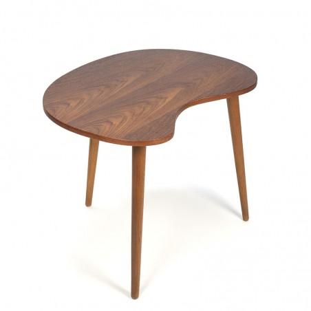 Teak kidney shaped small vintage coffee table or side table